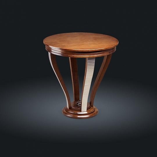 Стол кофейный с серебром 144