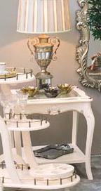 Стол кофейный со стеклом Аврора