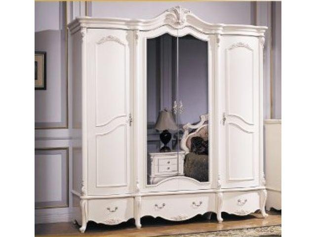 Шкаф 4-дв. Лоренцо с зеркалом