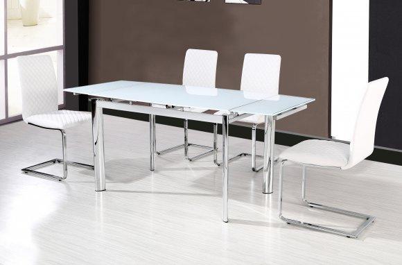Стол обеденный DT128 белоснежный